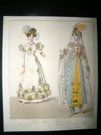 World of Fashion 1828 Hand Col Fashion Print 04. Persian Costume